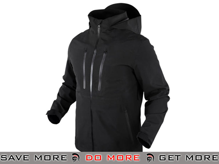 Condor Aegis Hardshell Waterproof Jacket (Black / Large) Jackets / Sweaters / Hoodies- ModernAirsoft.com