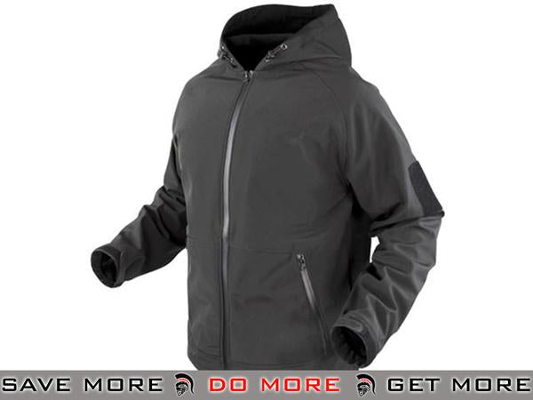 Condor Prime Soft Shell Jacket (Graphite / Large) Jackets / Sweaters / Hoodies- ModernAirsoft.com
