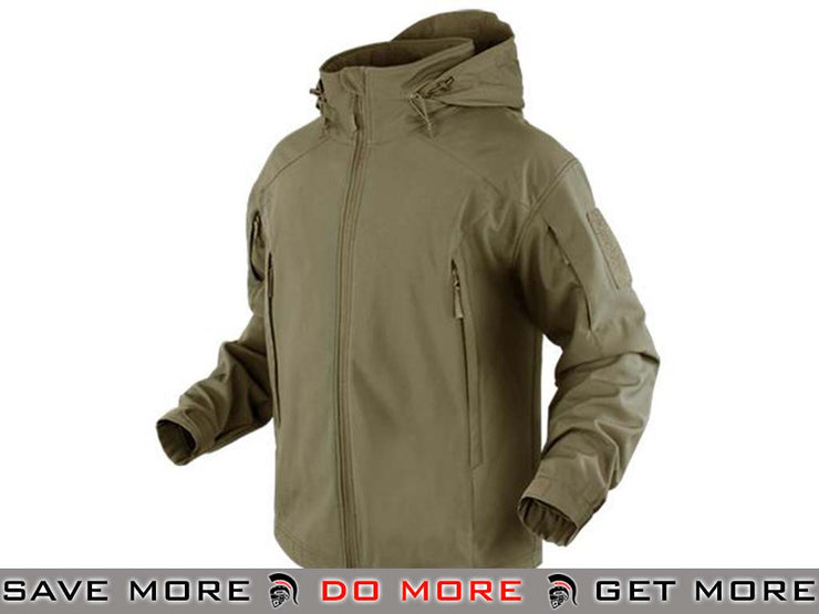 Condor Tan Small Element Soft Shell Jacket Jackets / Sweaters / Hoodies- ModernAirsoft.com