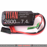 Titan Power Airsoft 7.4v 2600mah Li-ion Tamiya Brick Battery - 1082