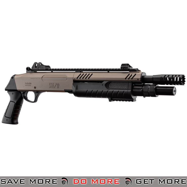 FABARMS STF12 Pump Action Tri Shot Spring Shotgun Airsoft Gun [ SG-LR3005 ] - Dark Earth, Short