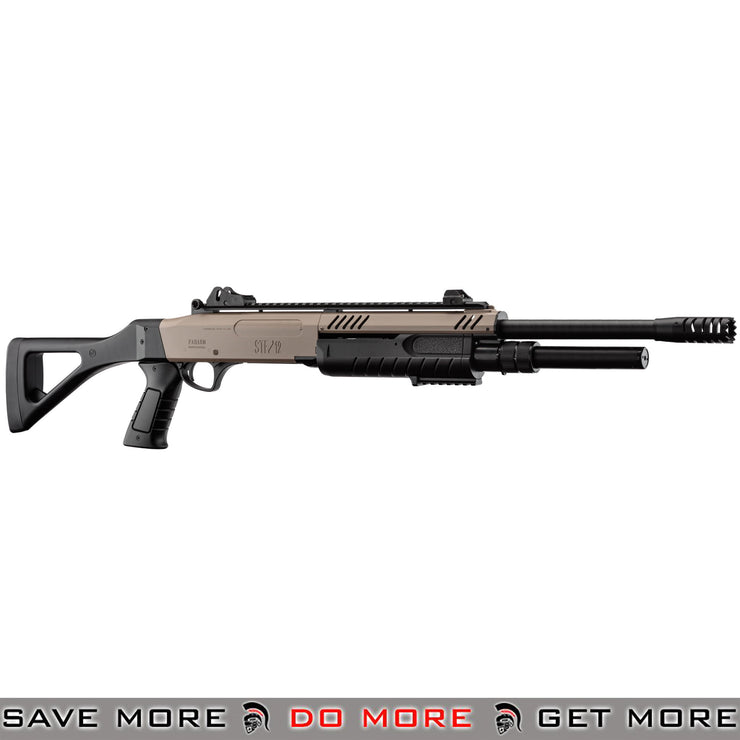 FABARMS STF12 Pump Action Tri Shot Spring Shotgun Airsoft Gun [ SG-LR3001 ] - Dark Earth, Full Size