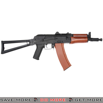 CYMA Stamped Metal AK74U w/ Folding Stock Airsoft AEG Rifle (Wood Furniture)