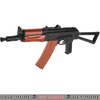 Pre-Order ETA July 2020 - CYMA Stamped Metal AK74U w/ Wood Furniture and Folding Stock Airsoft AEG Rifle