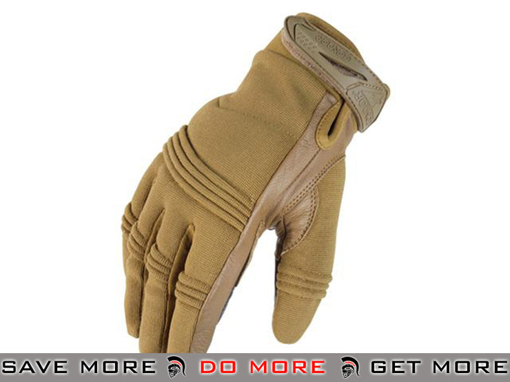 Condor Small Premium Leather Tactician Shooting Gloves (Coyote / X-Large) Gloves- ModernAirsoft.com