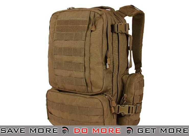 Condor Coyote Brown Convoy Tactical Outdoor Pack Backpacks- ModernAirsoft.com