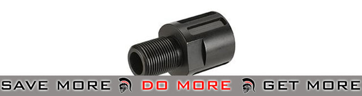 CZ 18mm to 14mm Muzzle Adaptor for Scorpion EVO 3 - A1 (Black) Adapters- ModernAirsoft.com