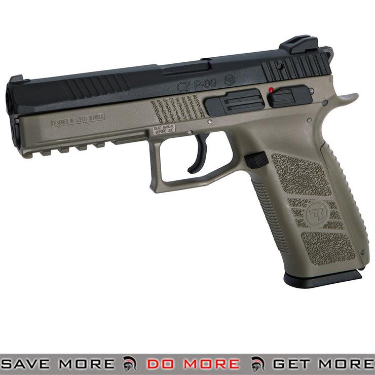 ASG CZ P-09 Suppressor Ready CO2 and Green Gas Airsoft Pistol - Flat Dark Earth