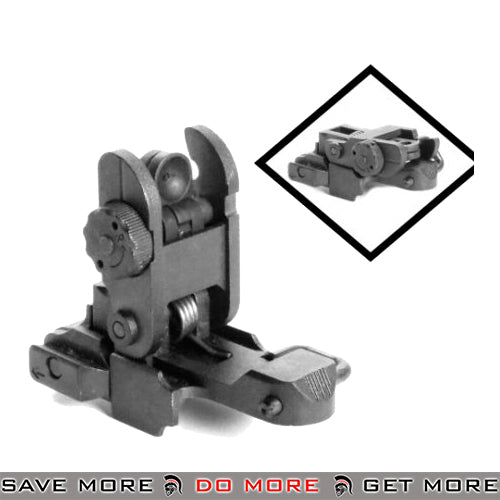 KWA OEM Replacement Part - Metal Rear Flip-Up Sight KWA KSC Parts- ModernAirsoft.com