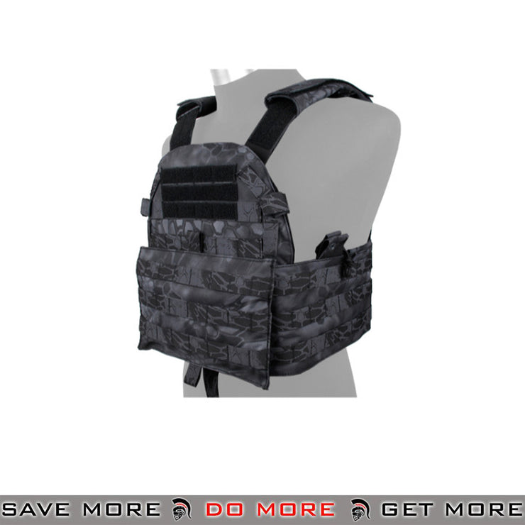 LT 94A 500D Nylon Airsoft Strap Plate Carrier - Typhoon Black