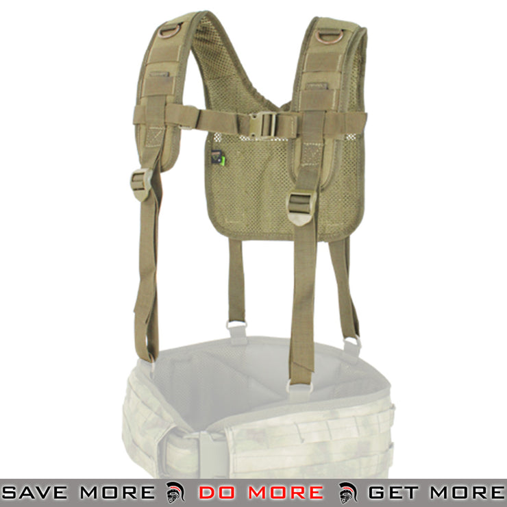 Condor Tan MOLLE H-Harness Chest Rigs & Harnesses- ModernAirsoft.com