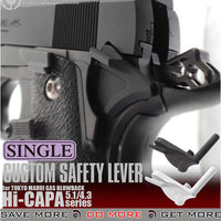 LayLax NINE BALL Airsoft TM Hi-CAPA 5.1 / 4.3 Series Custom Shortened Safety Lever
