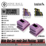Laylax Nine Ball Enhanced Rubber Magazine Gasket for TM Airsoft GBB Pistols (Set of 2)