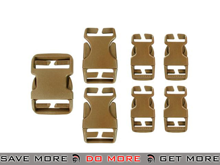 Condor Coyote Brown Replacement Buckle Set for Vests / Plate Carriers / Harnesses / Belts Vest Accessories- ModernAirsoft.com