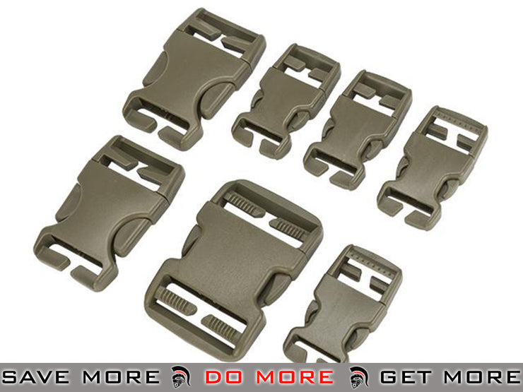 Condor Tan Replacement Buckle Set for Vests / Plate Carriers / Harnesses / Belts Vest Accessories- ModernAirsoft.com