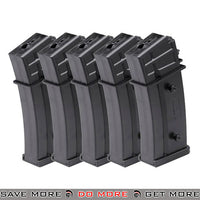 Elite Force H&K Licensed 140 rd Midcap for G36 Series Airsoft AEG Rifles [ 2275019 ] - Black, 5 Pack