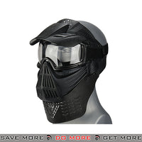 Lancer Tactical Full Face Mask w/ Neck Guard 2604BG - Black Face Masks- ModernAirsoft.com