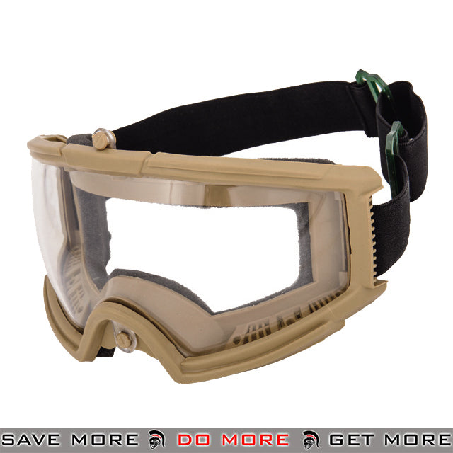 Lancer Tactical Wide View Full Seal Goggles 2605T - Tan Head - Goggles- ModernAirsoft.com