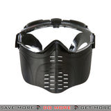 Lancer Tactical Fan Ventilated Full Face Mask 2606 - Black Face Masks- ModernAirsoft.com