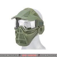 Lancer Tactical Full Face Mask 2607G - OD Green Face Masks- ModernAirsoft.com