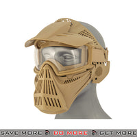 Lancer Tactical Full Face Mask 2607T - Tan Face Masks- ModernAirsoft.com