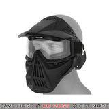 Lancer Tactical Full Face Mask 2607B - Black Face Masks- ModernAirsoft.com