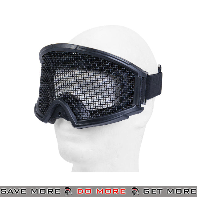 Lancer Tactical Steel Wire Mesh Gogglesr 2611B - Black Head - Goggles- ModernAirsoft.com