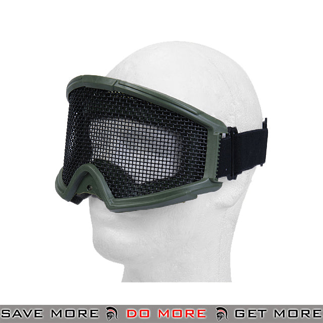 Lancer Tactical Steel Wire Mesh Gogglesr 2611G - OD Green Head - Goggles- ModernAirsoft.com