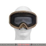 Lancer Tactical Steel Wire Mesh Gogglesr 2611T - Tan Head - Goggles- ModernAirsoft.com