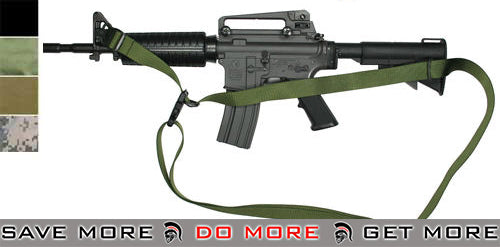 Matrix High Speed Special Force Tactical 3 Point Sling - OD Green Slings- ModernAirsoft.com