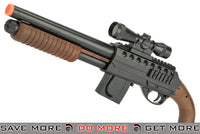 Smith & Wesson Licensed Pistol Grip Full Size Airsoft Shotgun with Flashlight Scope Extra mag! Airsoft Shotguns- ModernAirsoft.com