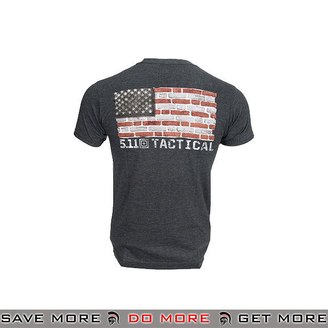 5.11 Tactical Brick and Mortar Graphic T-Shirt - Charcoal Heather Shirts- ModernAirsoft.com