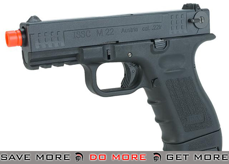 ISSC Licensed M-22 Full Metal Airsoft GBB Gas Blowback Pistol by WE - Black (CO2 Mag) CO2- ModernAirsoft.com
