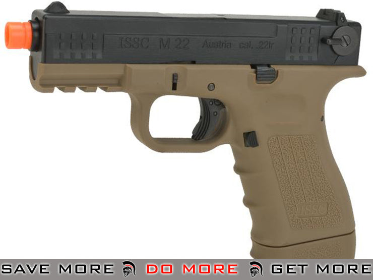 ISSC Licensed M-22 Full Metal Airsoft GBB Gas Blowback Pistol by WE Tech- (Color: Desert) (C02 Mag CO2- ModernAirsoft.com