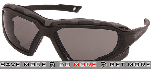 Valken ECHO Tactical Goggles - Black Frame / Smoked Lens Head - Shooting Glasses- ModernAirsoft.com