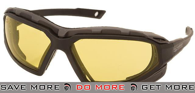 Valken ECHO Tactical Goggles - Black Frame / Yellow Lens Head - Shooting Glasses- ModernAirsoft.com