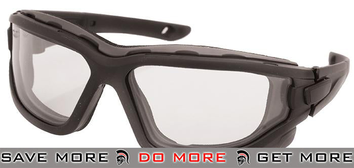 Valken ZULU Tactical Goggles - Black / Clear Head - Shooting Glasses- ModernAirsoft.com