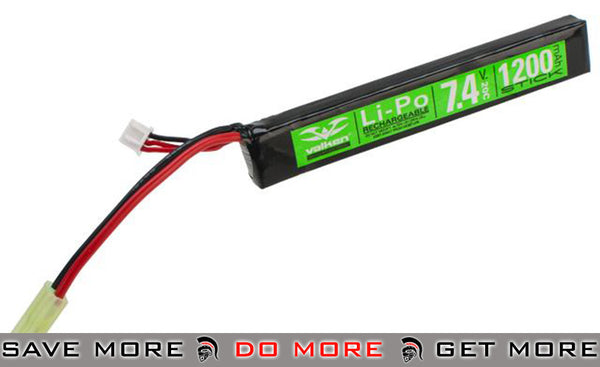 Valken Energy 7.4V 1200mAh 20C Stick Type Li-Poly Battery