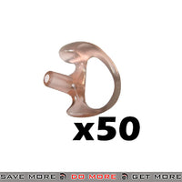 Code Red Semi-Custom Ear Insert EarMold Molded Earpiece - 50 Pack Headset Accessories- ModernAirsoft.com