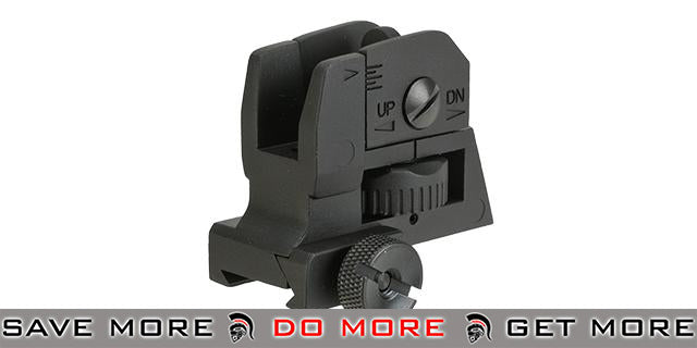 Krytac Full Metal Rear Sight for Airsoft AEG Rifles iron sights- ModernAirsoft.com