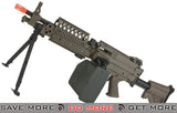 A&K / Matrix Full Metal MK46 Airsoft Light Machine Gun with Retractable Stock - Dark Earth A&K- ModernAirsoft.com