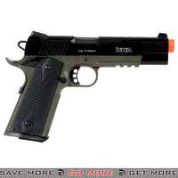 KWA M1911 NS2 PTP MKIV Full Metal w/ Railed Frame Airsoft Gas Blowback - OD Green