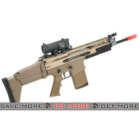 FN Herstal Licensed SCAR-H Gas Blowback Airsoft Rifle by WE-Tech - (Color Tan) MK16 / MK17 / SCAR / MK22- ModernAirsoft.com