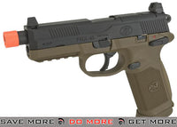 Tan Slide & Black Frame FN Herstal Custom FNX-45 Tactical Airsoft Gas Blowback Pistol by Cybergun SoftAir / Cybergun- ModernAirsoft.com