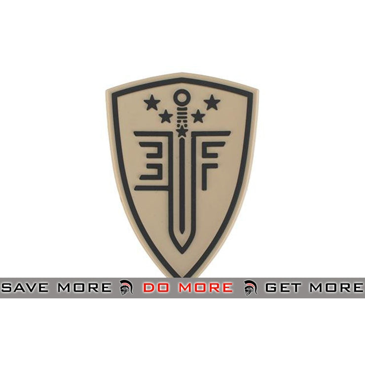 Elite Force PVC Shield Patch - Tan Others- ModernAirsoft.com