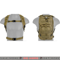 Lancer Tactical Airsoft 600D Polyester Tactical Backpack MOLLE - Tan