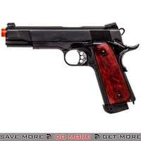 Double Bell M1911 A1 CO2 Blowback Airsoft Pistol [Black/Wood]