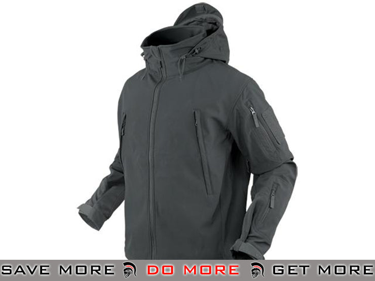 Condor Summit Soft Shell Jacket (Graphite / Small) Jackets / Sweaters / Hoodies- ModernAirsoft.com