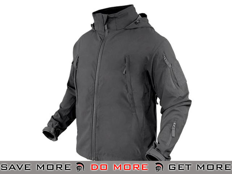 Condor Summit Zero Lightweight Soft Shell Jacket (Graphite / Large) Jackets / Sweaters / Hoodies- ModernAirsoft.com