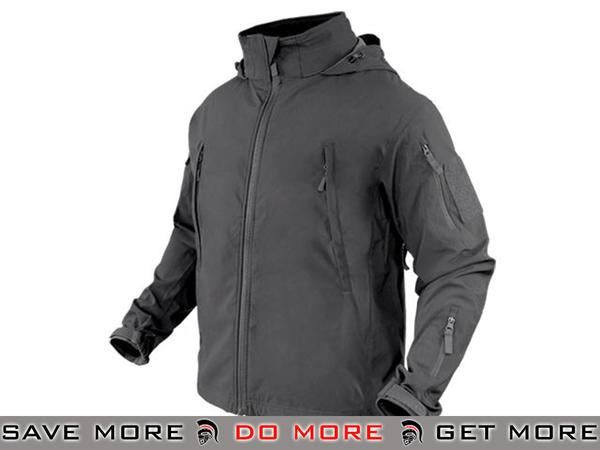 Condor Summit Zero Lightweight Soft Shell Jacket (Graphite / X-Large) Jackets / Sweaters / Hoodies- ModernAirsoft.com